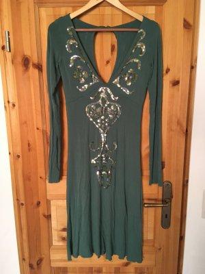 Kleid, Nolita, Sommerkleid, Hippiekleid, Midikleid, Pailettenkleid, Stretchkleid