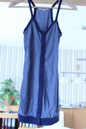 Kleid/Oberteil gestreift Blau/Weiß