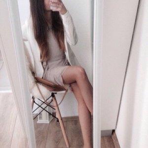 Kleid Oberteil Neu H&M 34 36 nude creme Steinchen Chiffon Silvester Weihnachten