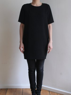 Blusa ancha negro Poliéster