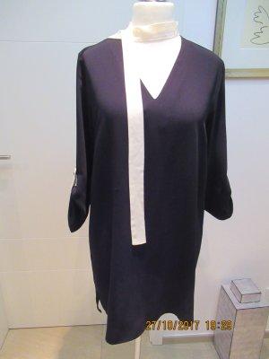 Kleid oder Tunika aus leichtem Stoff in schwarz weiss von Zara in Groesse L