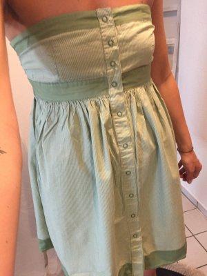 Zara Babydoll-jurk lichtgroen-groen