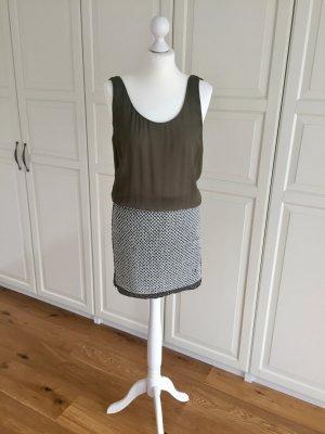 Kleid oliv Khaki M Zara Perlen