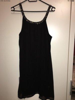 Kleid Only schwarz mit Steinchen in Größe 38