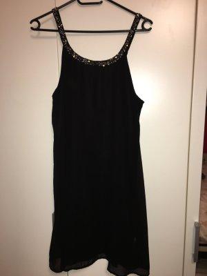 Kleid Only schwarz mit Steinen in Größe 38