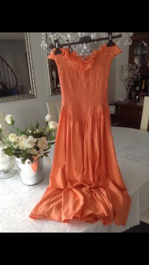 Kleid / orange / Gr. Uni (34)