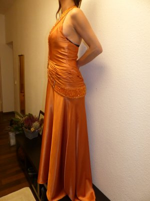 Evening Dress orange-neon orange