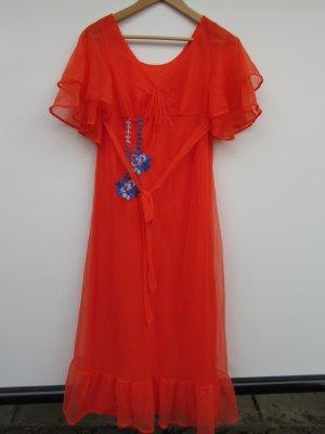 Vintage Vestido Hippie naranja