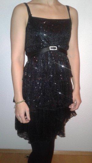Kleid Pailletten schwarz 34