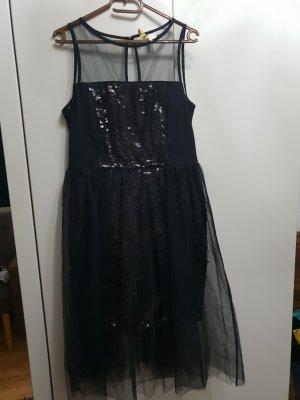 Kleid Pailletten Schwarz