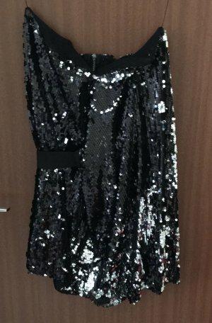Kleid Pailletten schwarz Gr. 36 Bandeaukleid Silvester Party AQ/AQ asos Neu!!