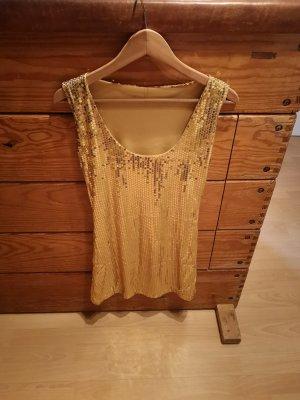 Kleid Palietten Gold Glitzer Glamour