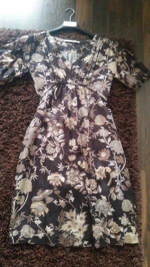 Kleid Part two braun mit Muster 32 ( 38 )