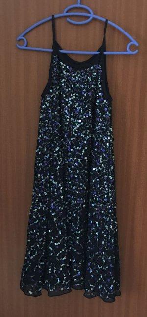 Kleid Party Abendkleid Trägerkleid blau Pailletten Asos Gr. 36 S neu!