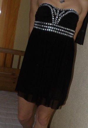 Kleid Party freizeit Gr. 34 36 XS S schwarz elegant Abi Mini