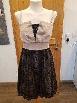 Kleid Partykleid mit Bolero in schwarz /nude