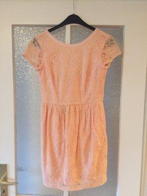 Kleid peach aprikot 36 H&M Spitze NEU