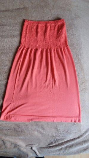 Vestido bandeau naranja neón-salmón fibra textil