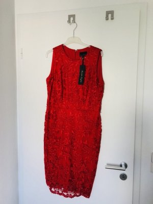 Phase eight Robe crayon rouge foncé-rouge tissu mixte