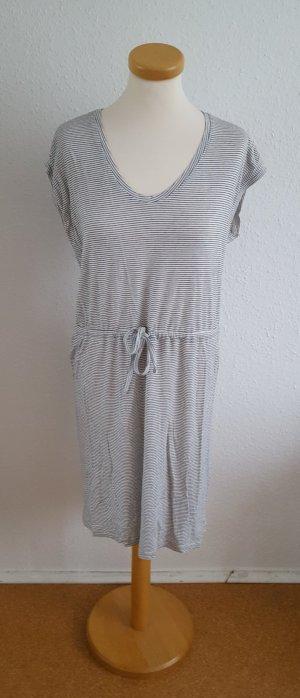 Kleid Pieces schwarz weiß gestreift Sommer