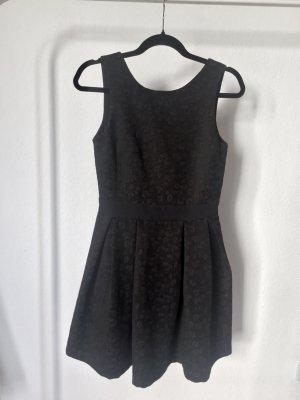 Kleid PIMKIE schwarz Leo Rückenausschnitt black schick pretty 34 XS