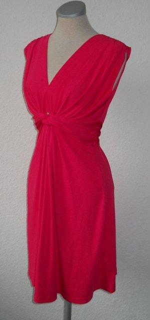 Kleid pink gerafft Gr. 36 38 S M knielang