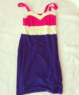 Kleid, Pink Loop, S, blau gelb pink