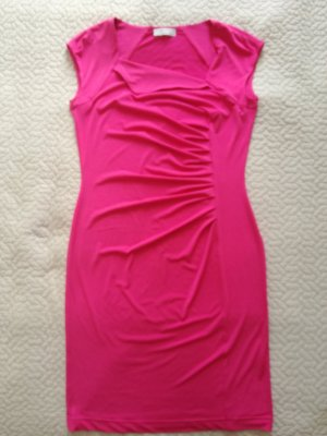 Kleid pink/rosa Gr. 38/M wie neu mit Raffungen
