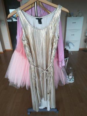 Kleid Plissee Gold Sommerkleid xs/s/m oversize