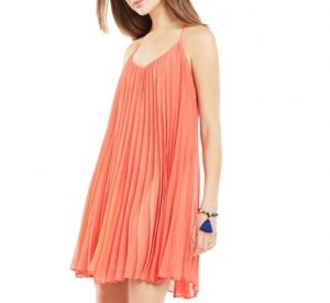 Kleid Plissee orange von IKKS in 36