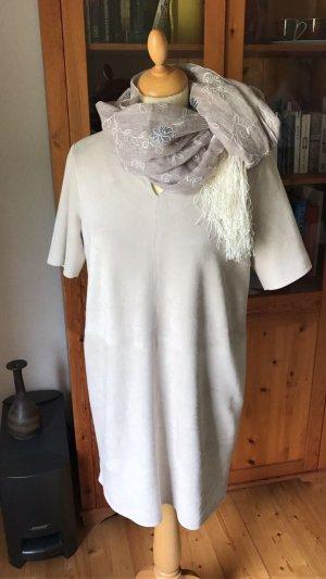 Kleid plus Mantel aus Waschleder