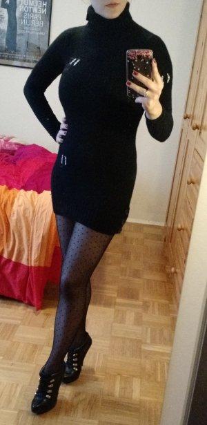 Kleid Pulli Who's who Gr. 34 XS schwarz wolle kaschmir luxus cachmere wollkleid