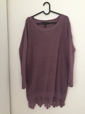 Kleid Pullover mit Spitze