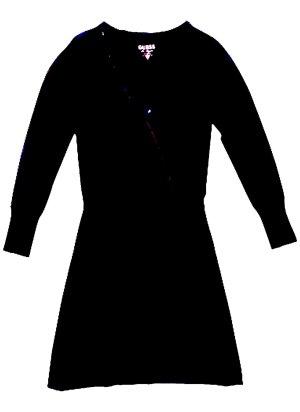 Guess Vestido negro-gris antracita Viscosa