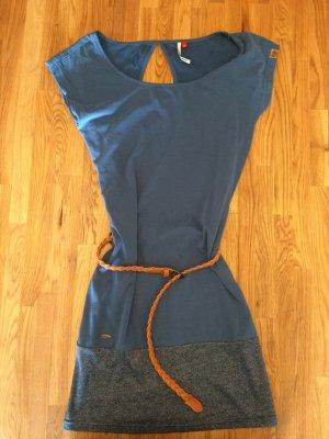 Kleid Ragwear Größe XS mit Gürtel blau