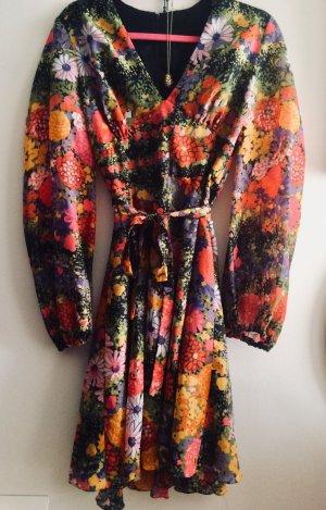 Kleid Retro Vintage 70s Bohostyle 36-38 flowerpower Hippiechic