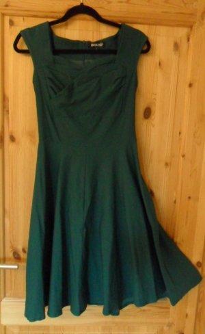 A Line Dress dark green-forest green cotton