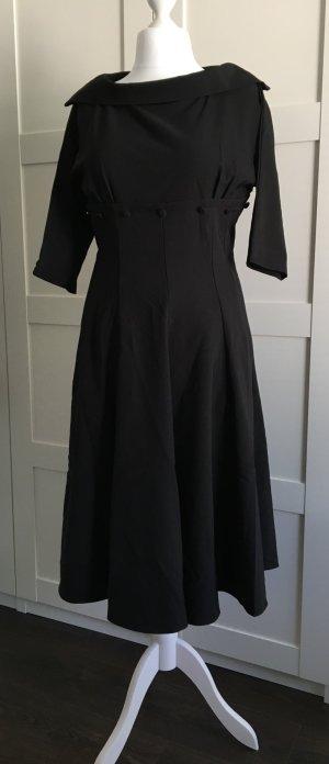Lindy Bop Vestido línea A negro Poliéster