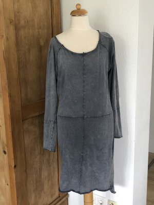 Rockgewitter T-shirt jurk donkergrijs-antraciet