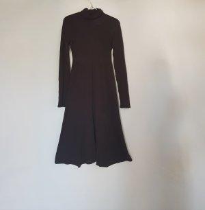 Zara Robe brun foncé-brun noir