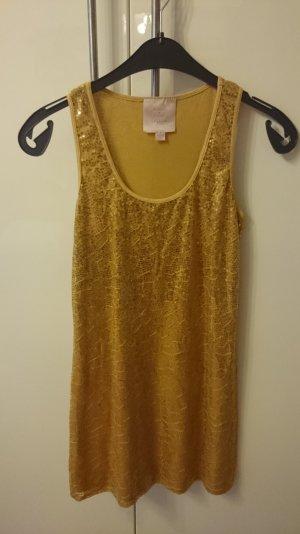 Kleid Romeo & Juliet Couture mit goldenen Pailletten Größe 36 NEU