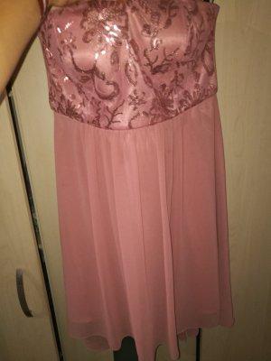 Kleid rosa Glitzer Gr.40