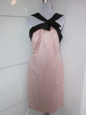 Kleid Rosa Schwarz Schleife Grob Satin Gr 42
