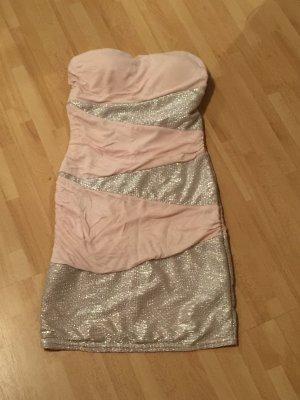 Kleid rosa Silber