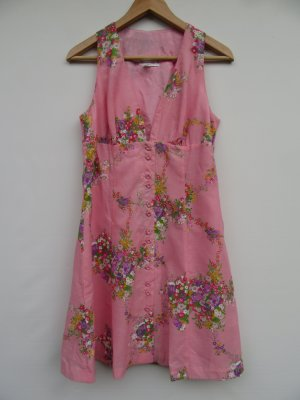 Kleid rosa Vintage Retro Blumen Gr. 42