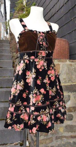 Vestido bustier negro-rosa
