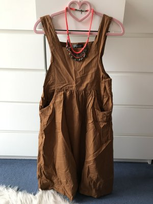 Midi Dress cognac-coloured