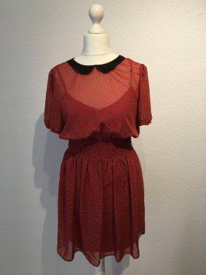 Kleid Rostrot Größe 40