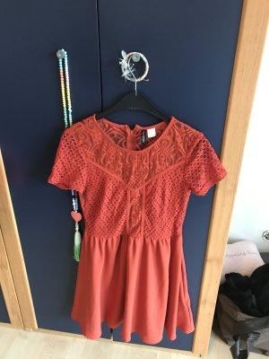 Lace Dress salmon cotton
