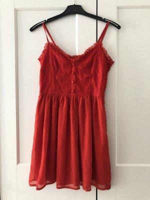 H&M Robe chiffon rouge